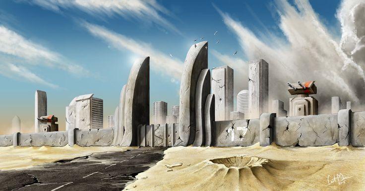 Concept cityscape by makorm on DeviantArt