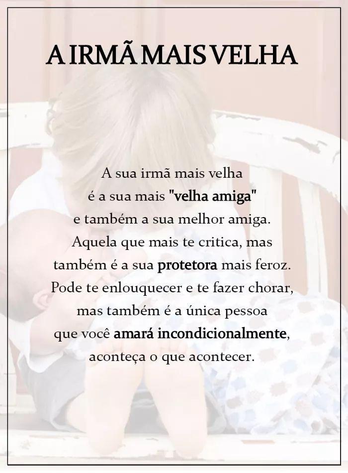 Pin De Mariana Costa Em Frases Irmã Frases Mensagem Para
