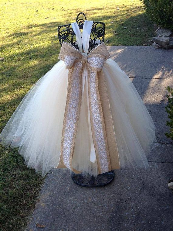 Country Couture Flower Girl Tutu Dress/ by princesstutus2010