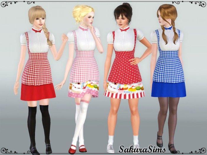 Bakery Uniform 01 by Sakura  - Sims 3 Downloads CC Caboodle