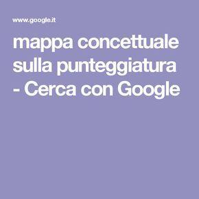 mappa concettuale sulla punteggiatura - Cerca con Google