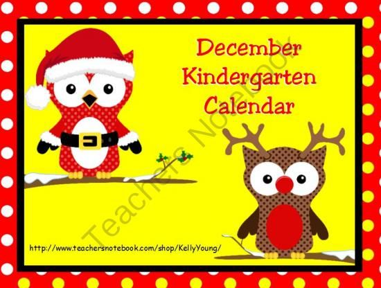 December Kindergarten Calendar For Promethean Board from KellyYoung on TeachersNotebook.com (53 pages)  -  So much more than a calendar! Includes many activities to last all month long!