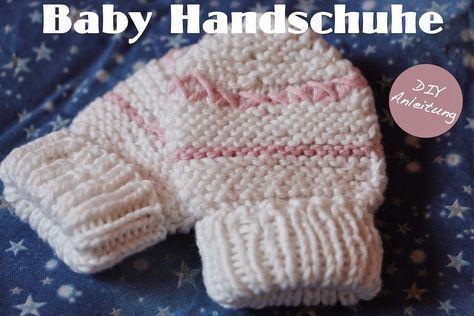 Instructions gratuites pour les gants de bébé. Bricolage | Gants bébé à tricoter, #guidance #baby #B …