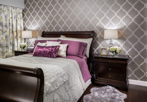 ?? Wallpaper feature wall?? 20 Master Bedroom Design Ideas in Romantic Style