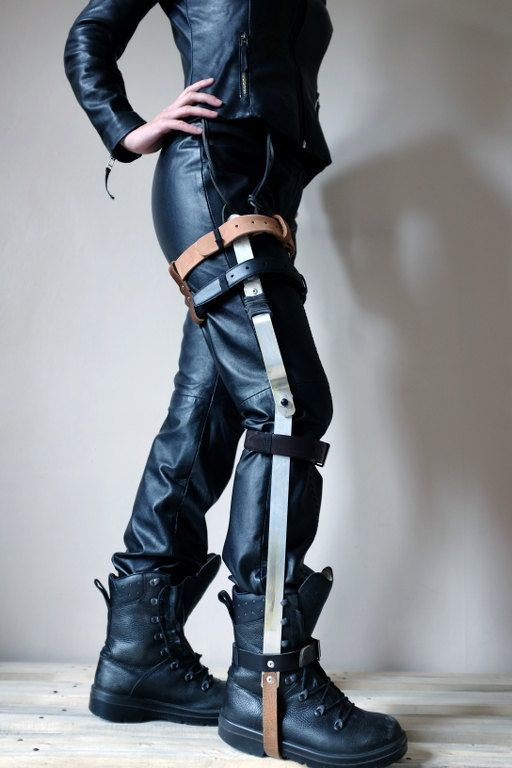 Leg Brace with Real Leather Straps and Aluminium - mad max ...