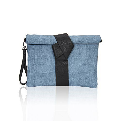 New Trending Clutch Bags: Hynes Victory Chic Clutches for Women Textured Envelope Clutch Purse with Strap Denim Blue. Hynes Victory Chic Clutches for Women Textured Envelope Clutch Purse with Strap Denim Blue   Special Offer: $22.99      199 Reviews Keep a slim profile with this sleek envelope clutch styled in soft faux leather with a slender long strap and detachable wrist strap, the optional wrist strap...