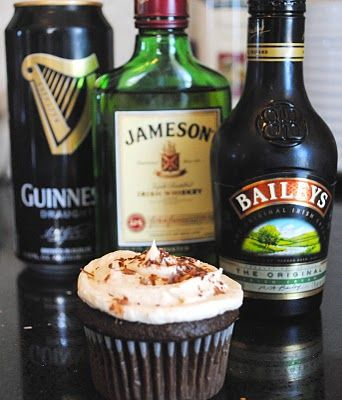 Irish Car Bomb Cupcakes. They seriously are the BOMB. (See what I did there. It's okay, you don't have to tell me, I already know how funny I am.)