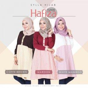 Baju Atasan Blouse Wanita Hafiza Tunik http://distromuslimah.net/baju-atasan-blouse-wanita-hafiza-tunik/