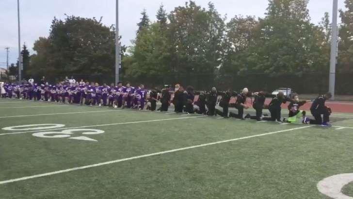 seattle garfield high school national anthem protest