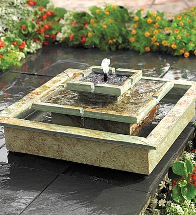 Outdoor solar fountain - birthday wish list