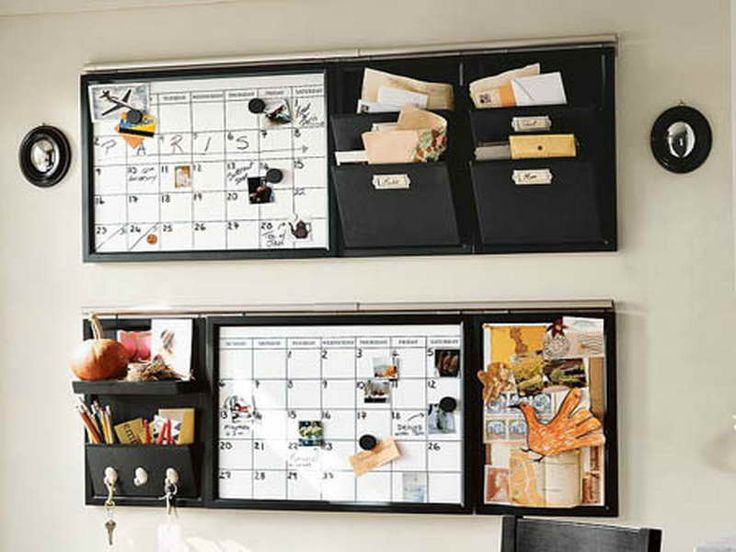 Wall Organizer With Chalkboard