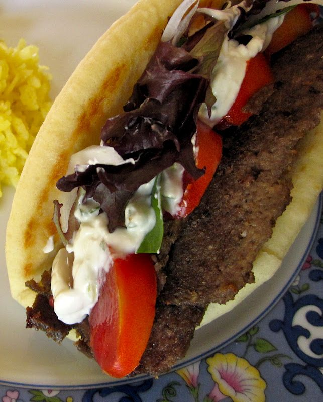 Homemade Greek Gyros with Tzatziki Sauce (Kebabs*)