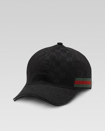 Canvas Baseball Hat by Gucci at Neiman Marcus.