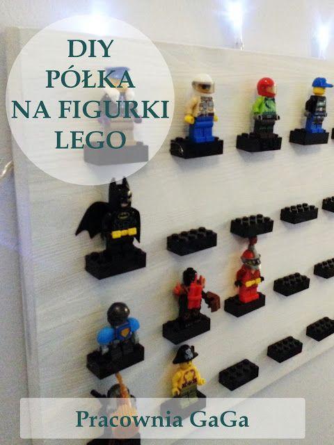 DIY Lego Minifigure Storage Shelves Tutorial, półka  na figurki Lego, pokój chłopca, DIY