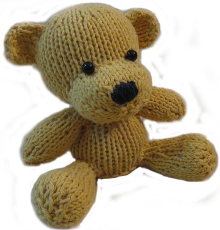 cute knitted bear!