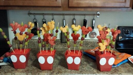 Mickey Mouse Fruit Kabobs Birthday Ideas Pinterest