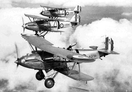Hawker Audax light bombers in flight