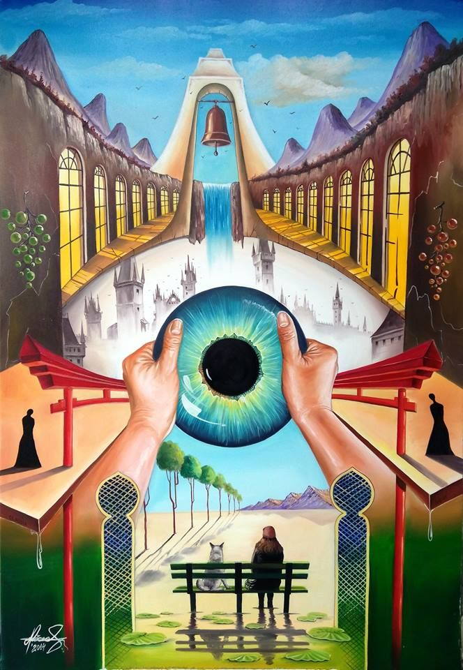 """Behind empty eyes"" - Oil on canvas.  Mihai Adrian Raceanu, Painter from Romania #art #painter #painting #surrealism"