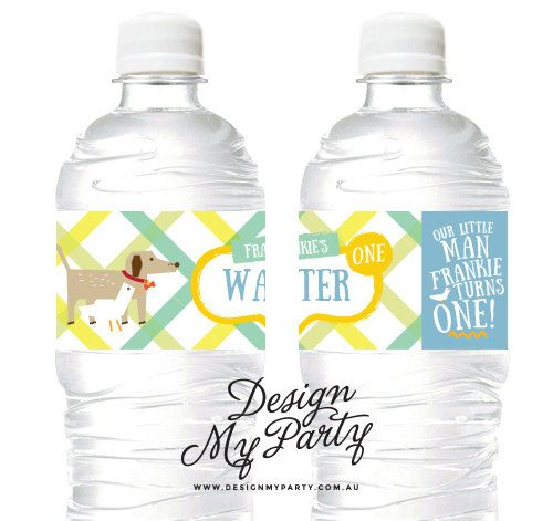 Dog & Duck Juice Soda Water labels/ Drink by DesignMyPartyShop