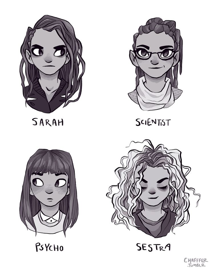 Sarah // Cosima // Alison // Helena // Orphan Black // I Don't Agree With Alison Being A Psycho ... But I Love The Art!