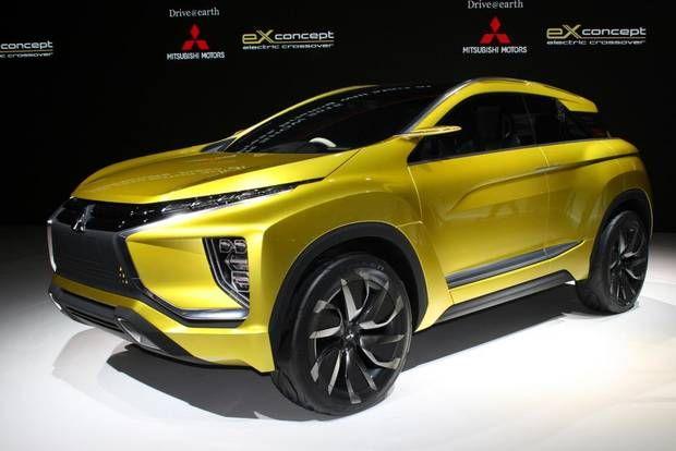 Mitsubishi eX er en af de mange konceptbiler i Tokyo. Elmotor, men det slutter slet ikke her, for eX har også teknik, der er Mitsubishis næste skridt i retningen mod den førerløse bil. Foto: Flemming Haslund