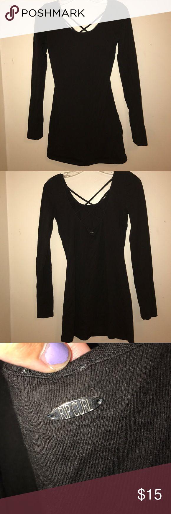 Rip Curl long sleeve dress Never worn Tight long sleeve dress with criss cross back Rip Curl Dresses Mini