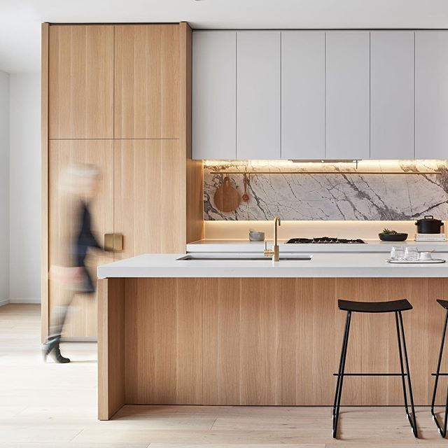 SkyOne Box Hill – an elegant mixing of materiality. @goldenagegroup #DKOinteriors #interiordesign #kitchendesign #melbourne #naturalstone @glluuxx @caesarstoneau @_danhocking_