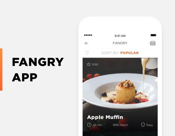 """查看此 @Behance 项目:""""Fangry Food Mobile App""""https://www.behance.net/gallery/45224481/Fangry-Food-Mobile-App"""