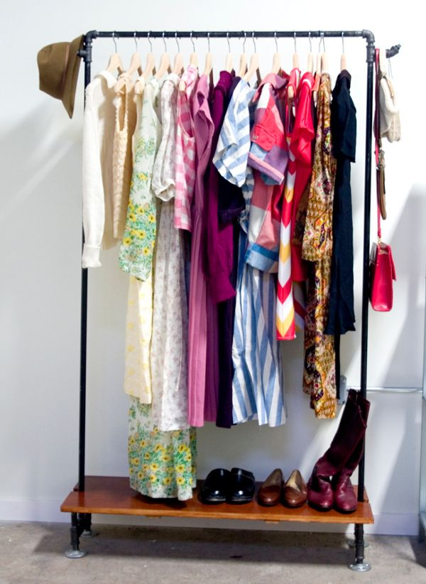 Make A Free Standing Clothing Rack From Galvanized Pipe