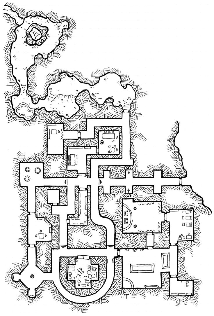 194 best images about d d map blueprint on pinterest for for Floor 2 dungeon map