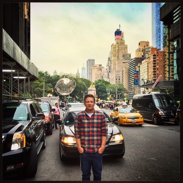 """@jamieoliver's photo: """"Ahhhhhh back in NYC love this city!! My book Comfort Food just launched over here so it's been a very busy and exciting day!! Big love all love #jamieoliver xxxx"""""""