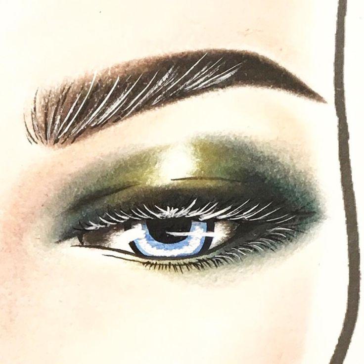 .  黒いまつ毛がシャドウの濃さで  見えにくいから  ホワイトで光のイメージで  まつ毛描いてみました‼︎  .  フィーラインベース描くと  フェイスチャート時もメイクと同じで  カラー良く発色するんです‼︎  .  ------------------------------------------#MAC#MACmakeup#makeup#Foundation#Basemakeup#skin#eyeshadow#eyes#eyecolor#Lipstick#Lipcolor#Blush#blushcolor#Facechart#MACFacechart#love#instagood#macartistchallenge#myartistcommunity#macartistchallenge#H2O_FaceChart#fashionpack