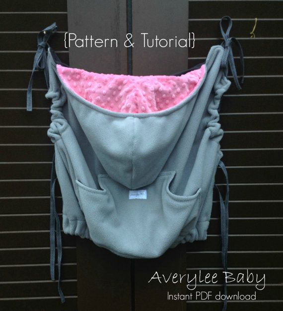 INSTANT DOWNLOAD, Pattern & TutorialContoured Babywearing Cozy Cover ,baby…