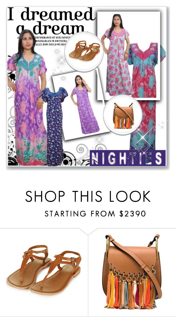 #WOMENS HOSIERY NIGHTY by globaltrendzs-flipkart on Polyvore featuring Chloé, maxi, Nightwear, Womens, nighty and nightgown http://www.flipkart.com/search?q=Indiatrendzs+nighty&as=off&as-show=on&otracker=start #nighty #maxi #nightwear #nightgown #womens