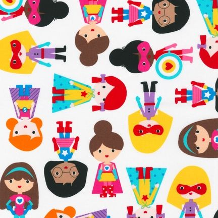 AAK-14155-204 by Ann Kelle from Super Kids: Robert Kaufman Fabric Company