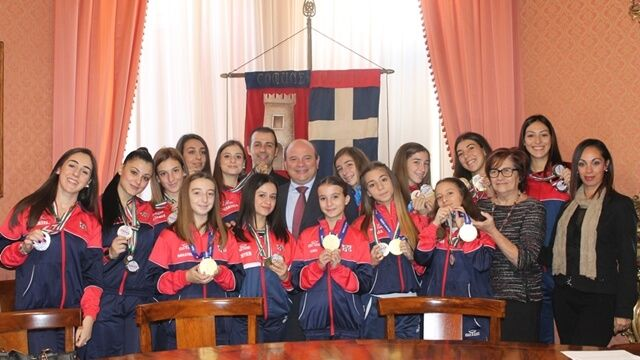 Sassari: campionesse mondiali di danza ricevute a Palazzo Ducale