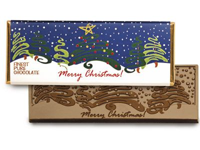 Merry Christmas Chocolate Wrapper Bar