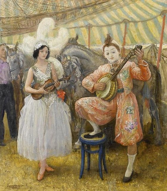 Laura Knight - Circus Musicians