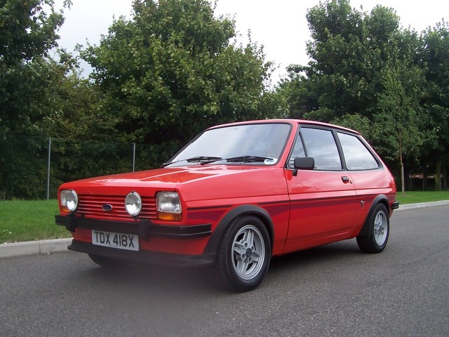 Ford Fiesta Supersport. I have a completely irrational love of these cars. I had a couple of Mk1 Fiestas one of which was tuned and quite nippy. I wanted a Supersport for years but never did get one.