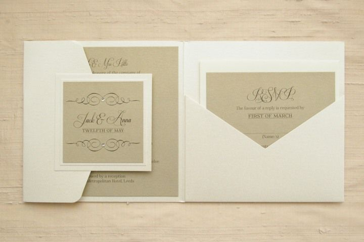 Handmade Wedding Invitations & Pocketfold Invitations – Regency