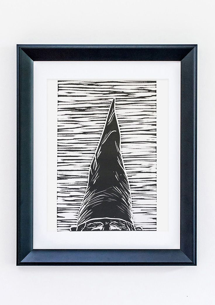 Set Forth Studio – Gnome Linocut Print, $30 // This peekaboo art print will look gorgeous on your wall, and makes a great gift. Buy it now in the shop!