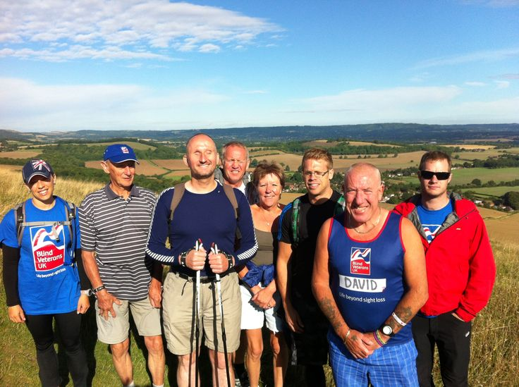 #Blind #Veterans walk 75 miles across the #SouthDowns to celebrate the 75th #anniversary of the Blind Veterans UK Brighton building www.blindveteransblog.org.uk/blind-veterans-sport-and-recreation/blind-veterans-tackle-south-downs-trek