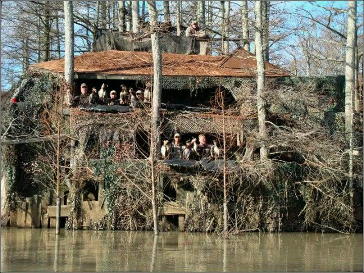 Cool duck hunting blind