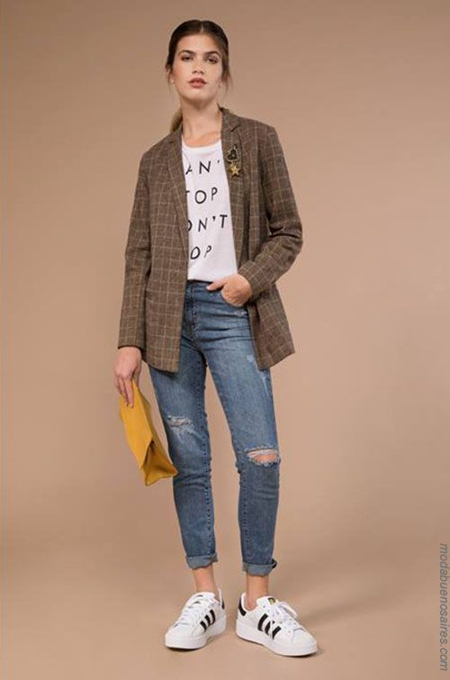 Moda con blazer mujer 2019