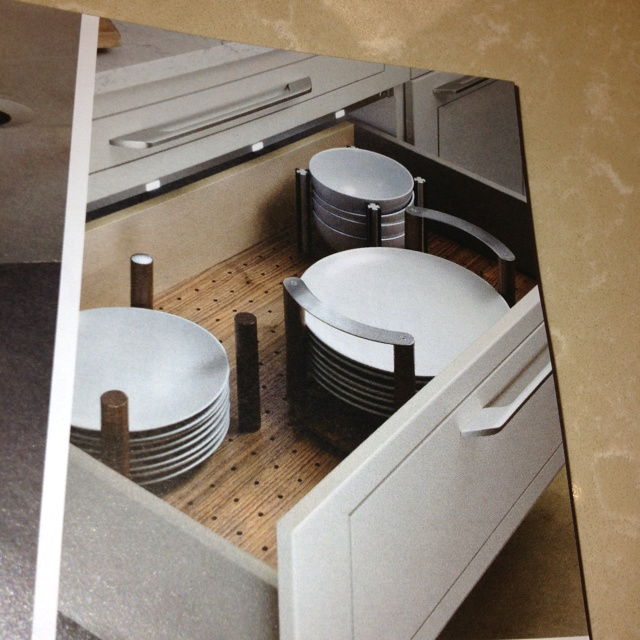 The wife saw this sweet kitchen idea...