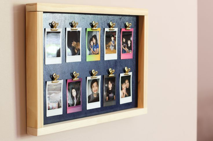 How to make a DIY Fuji Instax photo frame. What a fun way to display your Instax mini film photos!
