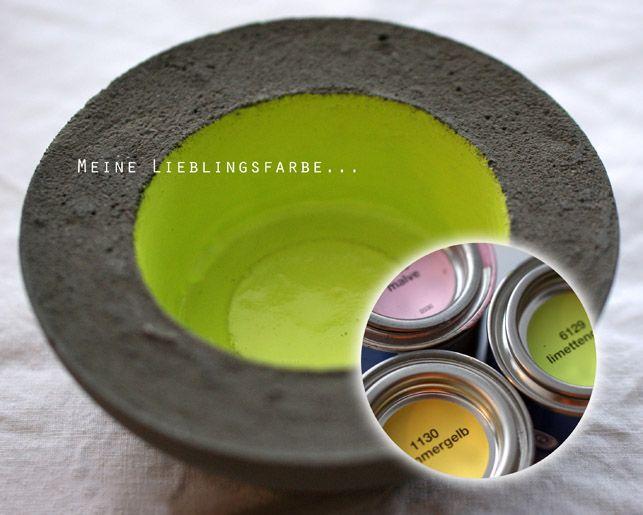 Oh, Beton! Frühlingsfarben. Springcolors. Limettengrün.