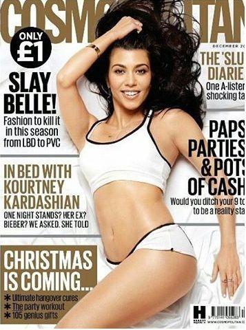 Kourtney Kardashian - Cosmopolitan Magazine Cover [United Kingdom] (December 2016)