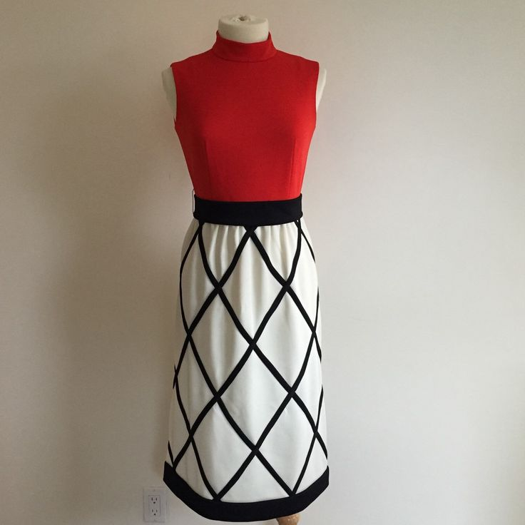 A personal favorite from my Etsy shop https://www.etsy.com/ca/listing/259254524/amazinh-vintage-1960s-red-cream-and