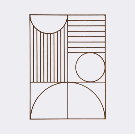 The Bauhaus inspired Outline Wall Deco is a light and stylish wall piece, which you can easily mix in to your other wall decorations or use as an individual piece of art. By using laser cutting, Ferm